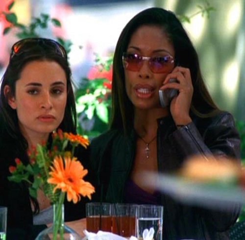 Anna Espinosa (Gina Torres in Alias) on the phone