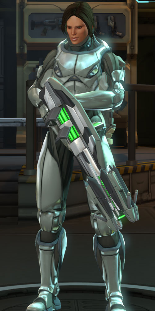 Annette Durand (XCom Enemy Within) titan armor and heavy plasma