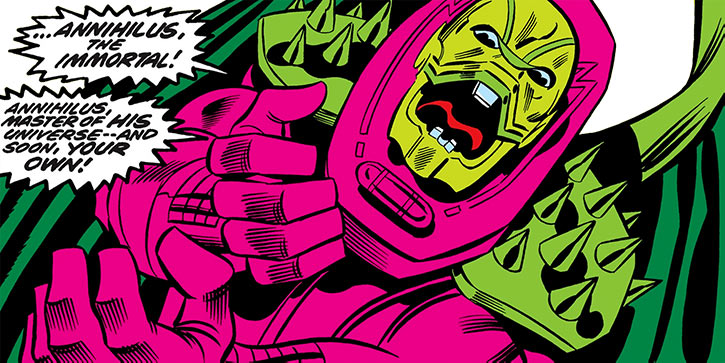 Annihilus (Marvel Comics) (Early) - ranting