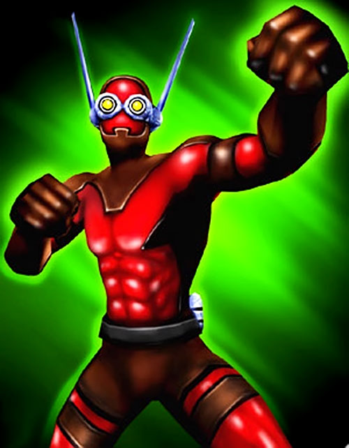 The Ant of Freedom Force posing