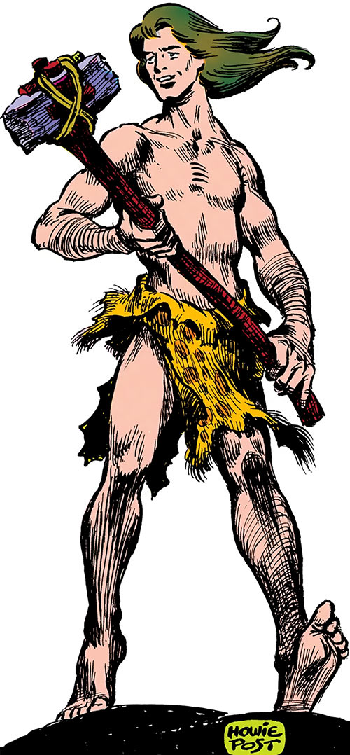 Anthro the caveboy from the Who's Who, on white background