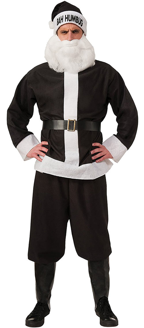 Black Santa Claus novelty costume humbug