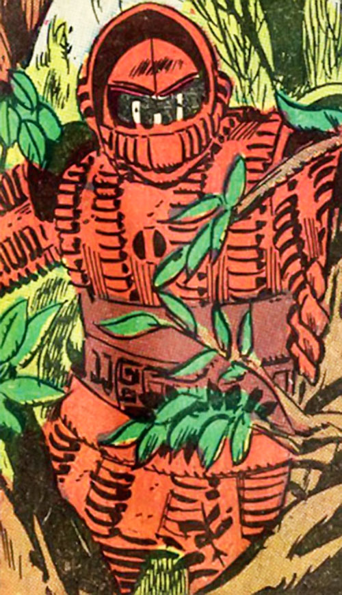Crimson Dynamo (Anton Vanko) (Iron Man enemy) (Marvel Comics) in a forest