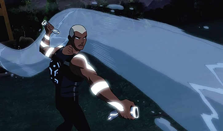 Aqualad using hydrokinesis