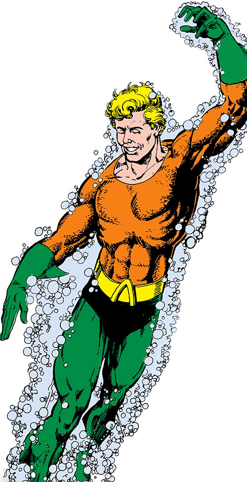 Aquaman - DC Comics- Perez art for the 1985 Who's Who 1 cover