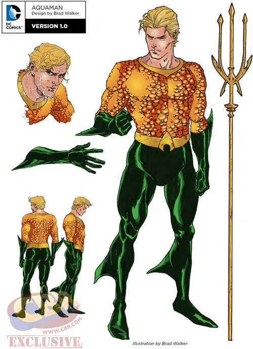 Aquaman character model sheet by Brad Walker