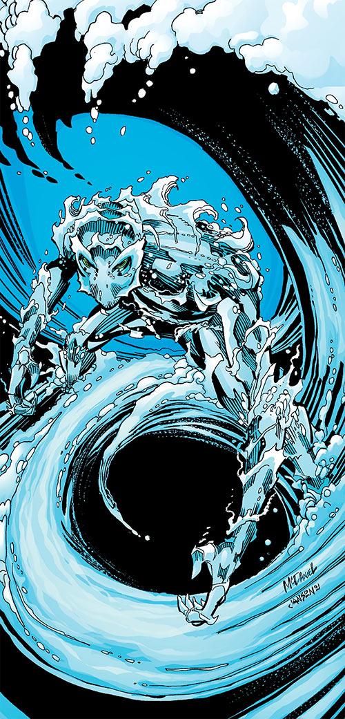 Aquaman (DC Comics) (Imagine Stan Lee version) splash page by Scott McDaniel
