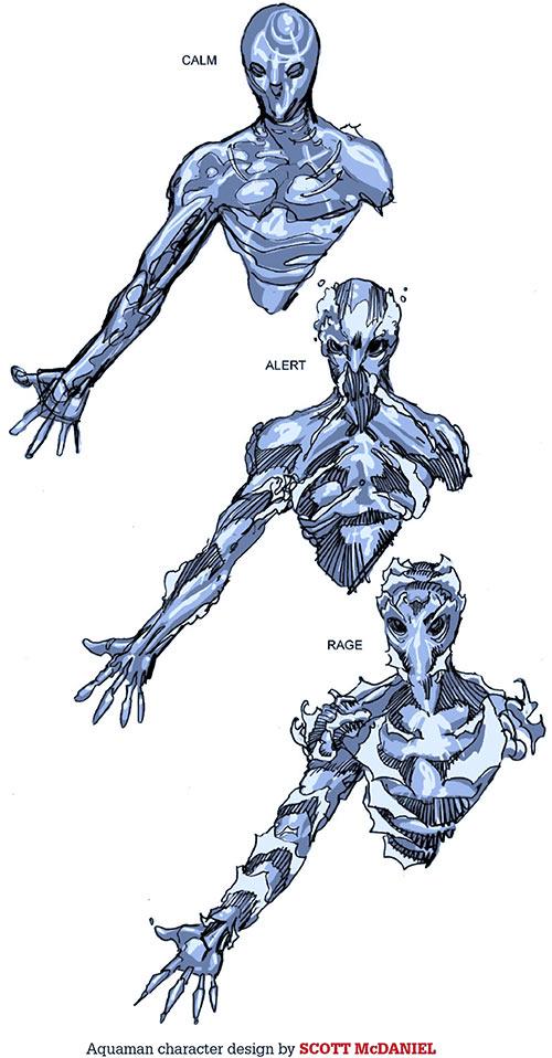 Aquaman (DC Comics) (Imagine Stan Lee version) design document by Scott McDaniel