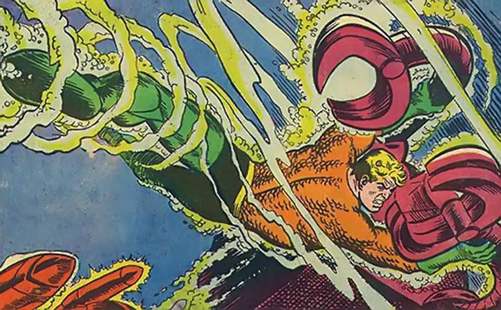 1970s Aquaman fighting underwater