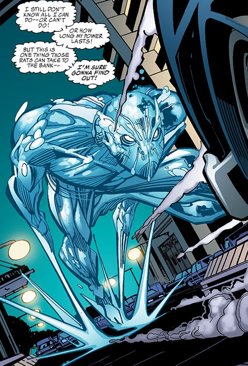 Aquaman (Imagine Stan Lee version) (DC Comics) racing down the street