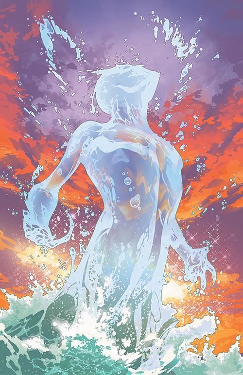Aquaman (DC Comics) (Imagine Stan Lee version) cover liquid body