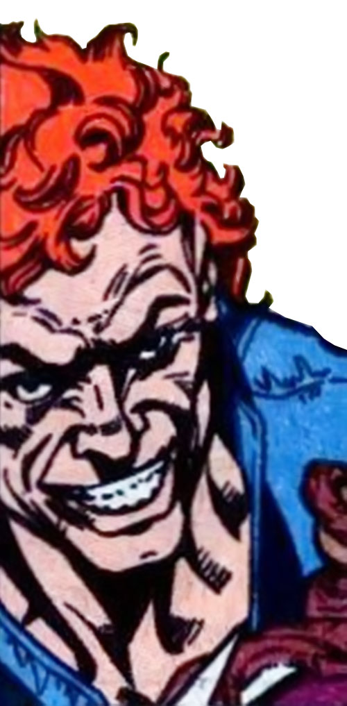 Aqueduct (Marvel Comics villain) face closeup cruel grin