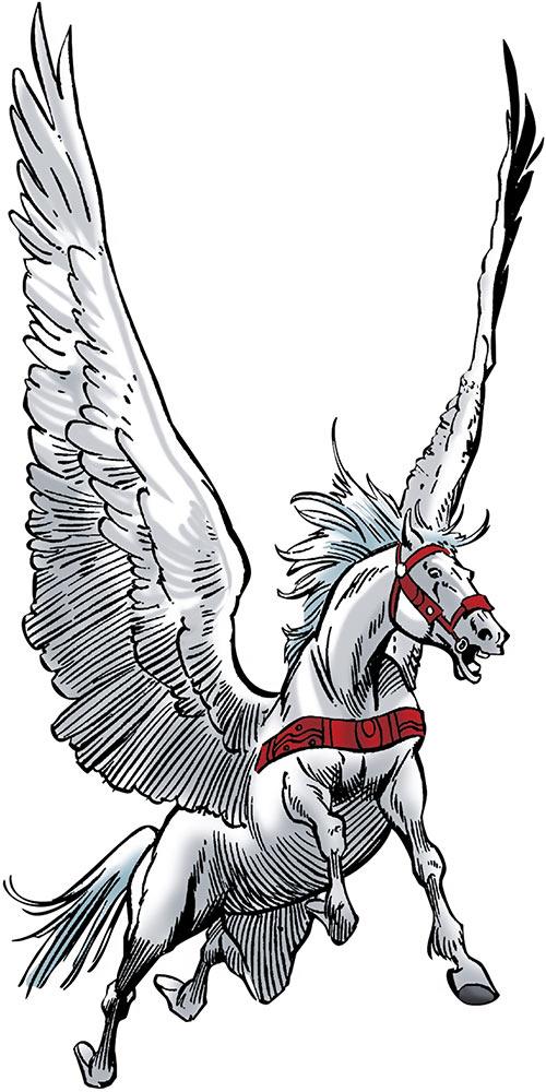 Aragorn - Marvel Comics - Winged, flying white horse