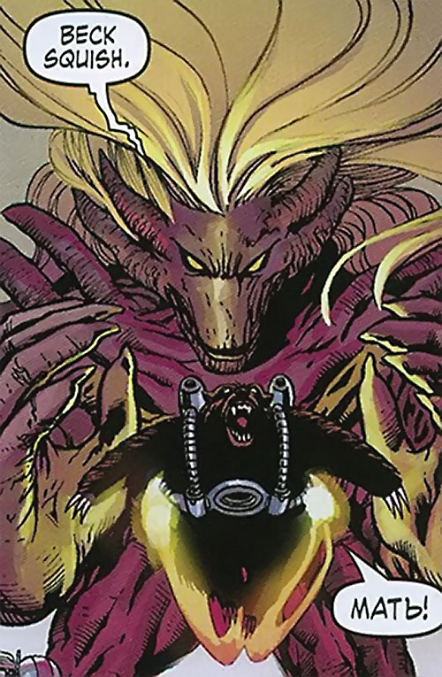 Aralune of the Order (Marvel Comics) (Matt Fraction) morphed as a giant alien monster