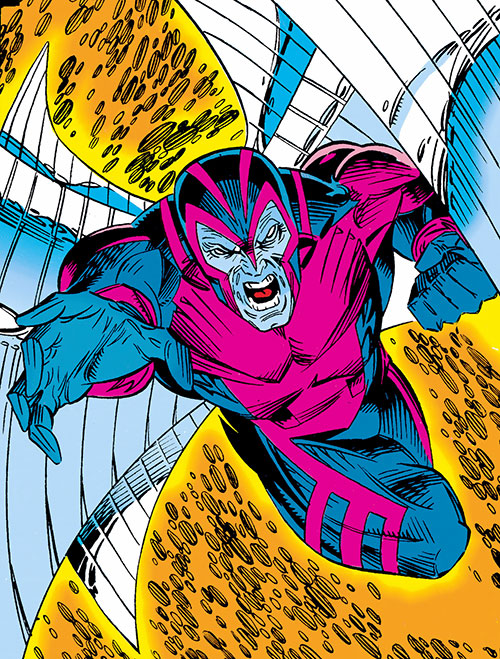 Archangel (X-Factor) (Marvel Comics) flying into action