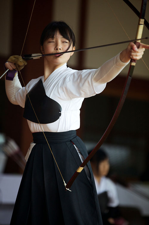 Female Japanese archer
