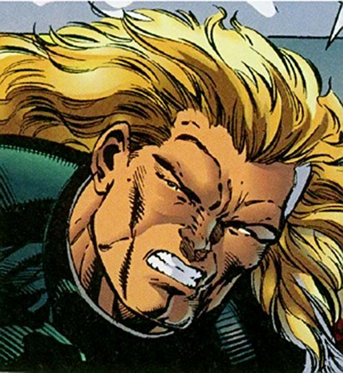 Arcimboldo (Sovereign 7 enemy) (DC Comics) face closeup