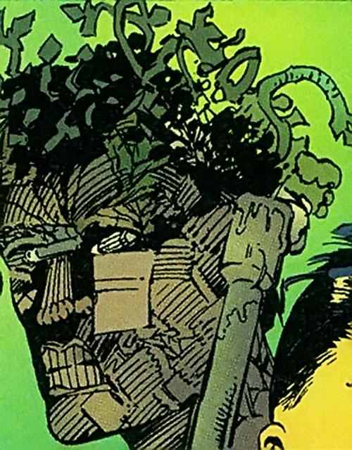 Arcimboldo (Sovereign 7 enemy) (DC Comics) power example - earth composite head