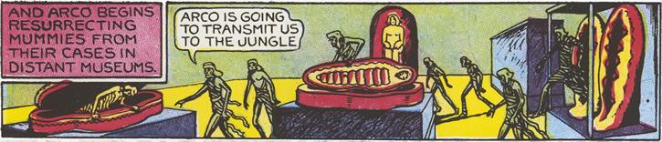 Arco (Fantomah comics by Fletcher) the mummies awaken