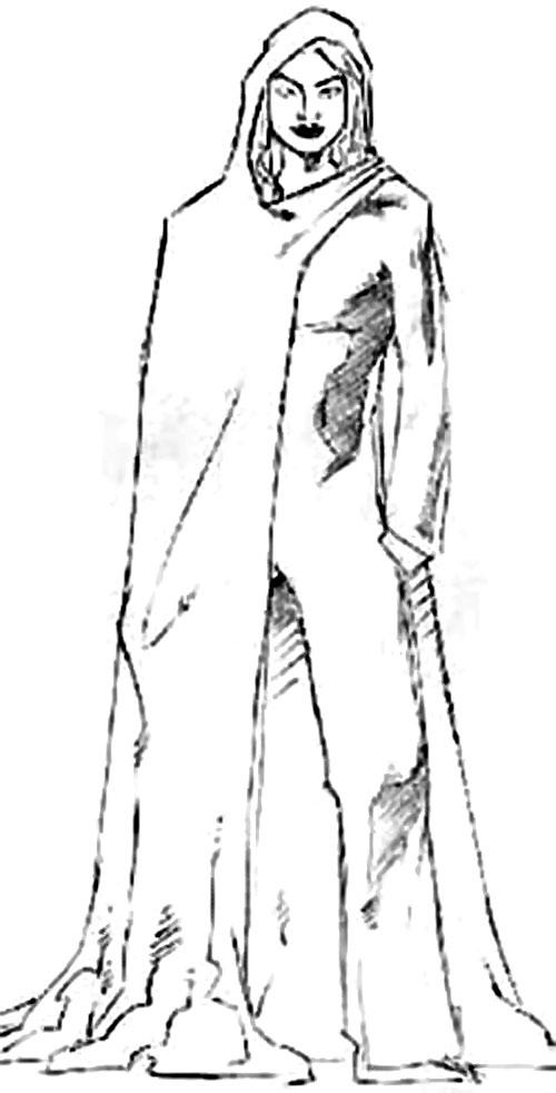 Ariadna (DC Heroes RPG) B&W sketch