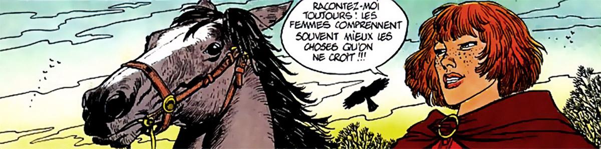 Masquerouge - 7 vies Epervier - Ariane de Troil - portrait a cheval