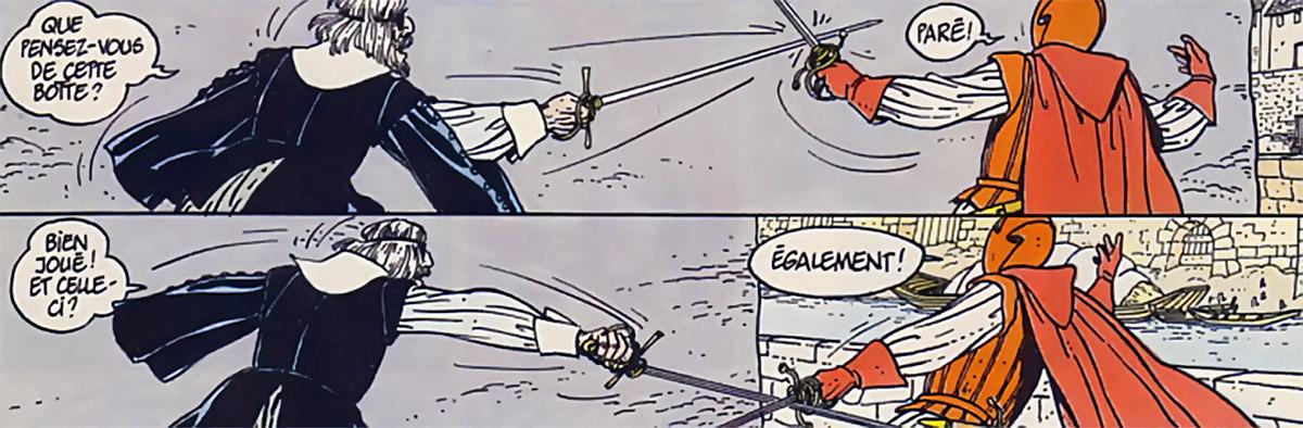 Masquerouge - 7 vies Epervier - Ariane de Troil - duel contre le Condor