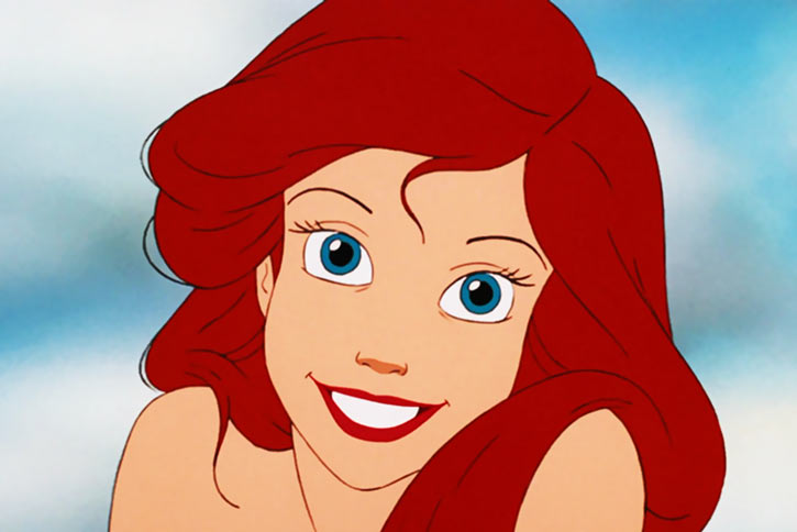 Ariel the little mermaid (Disney version) - face closeup smile