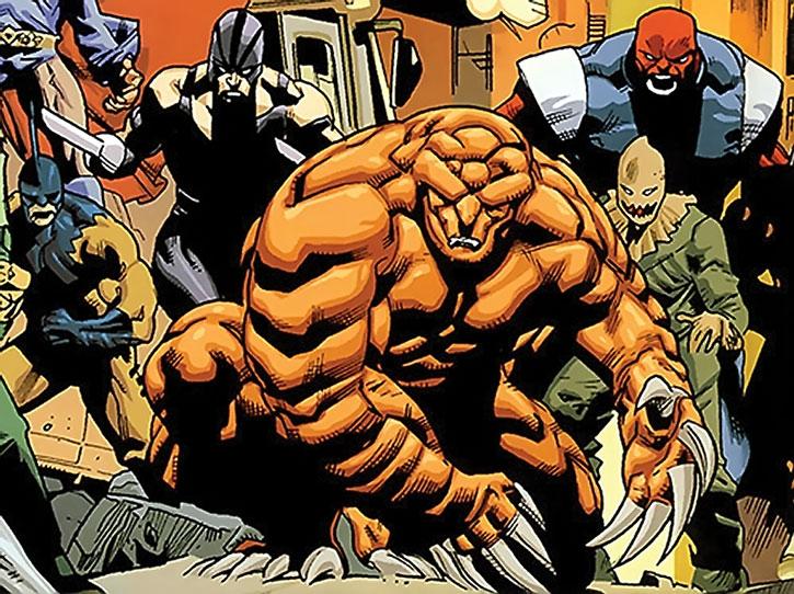 Armadillo and various super-villains
