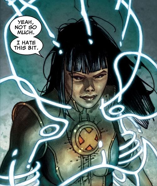 Armor of the X-Men (Hisako Ichiki) (Marvel Comics) focusing