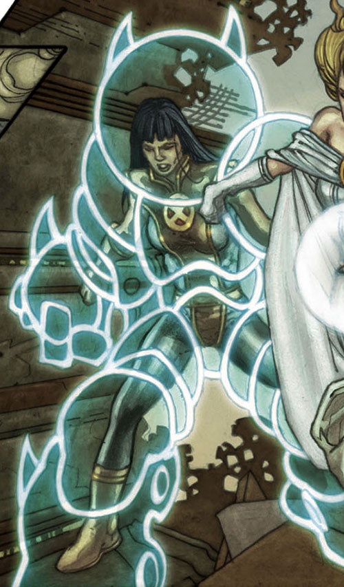 Armor of the X-Men (Hisako Ichiki) (Marvel Comics) with a white psychic exoskeleton