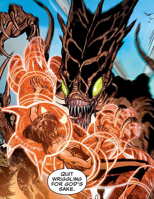 Armor of the X-Men (Hisako Ichiki) (Marvel Comics) vs. a huge Brood