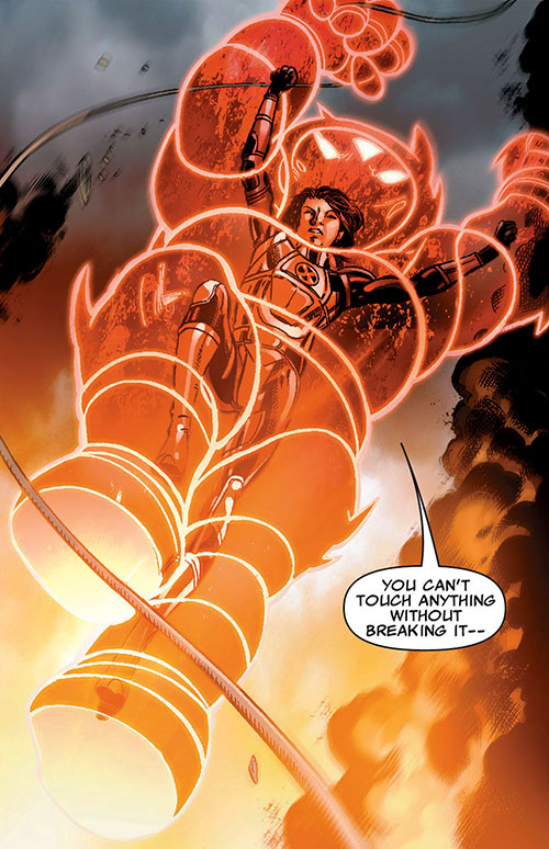 Armor of the X-Men (Hisako Ichiki) (Marvel Comics) jumping down