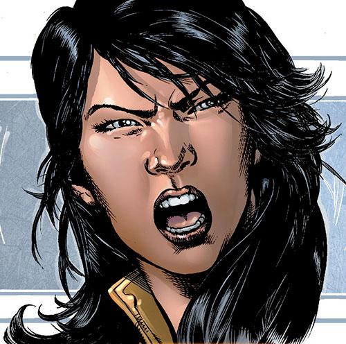 Armor of the X-Men (Hisako Ichiki) (Marvel Comics) face closeup Jimenez