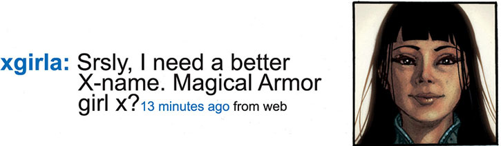 Armor tweeting about her name