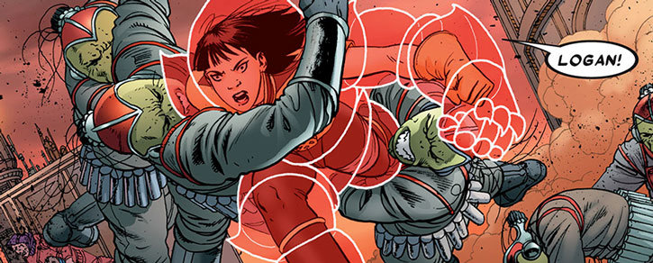 Armor fighting alien soldiers on Breakworld