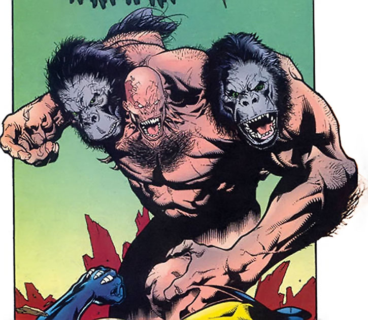 "Arnim Zola's ""Monkey Boy"" creature vs. Wolverine"