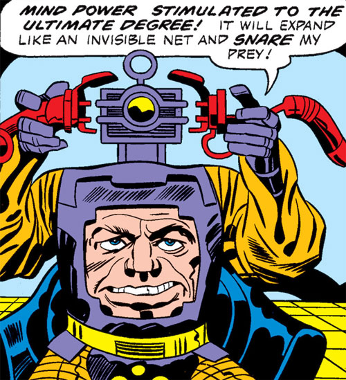 Arnim Zola plus a device into his head box