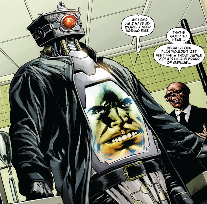 Arnim Zola and the Red Skull