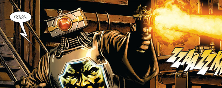 Arnim Zola shooting a pistol