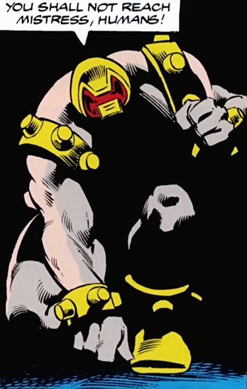 Arsenal robot (Marvel Comics Avengers) in darkness