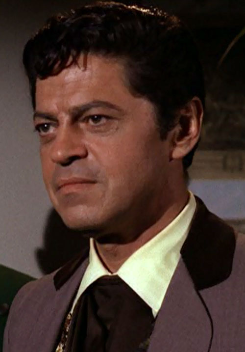 Artemus Gordon (Ross Martin in Wild Wild West) face closeup side