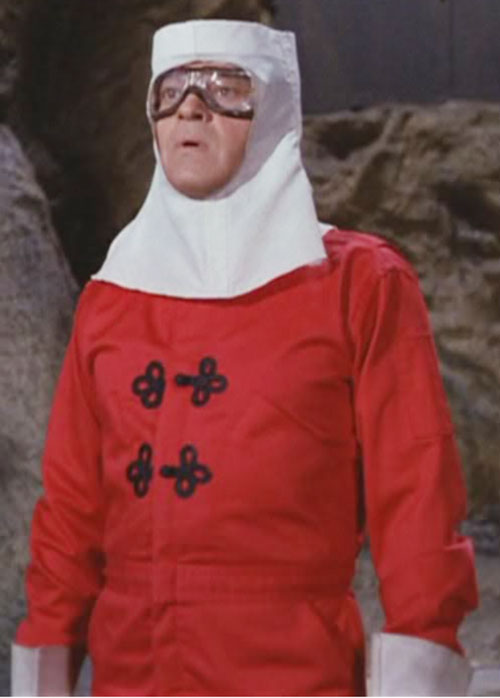 Artemus Gordon (Ross Martin in Wild Wild West) disguised as a something in red and white