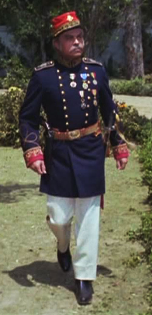 Artemus Gordon (Ross Martin in Wild Wild West) disguised as an officer with a blue uniform