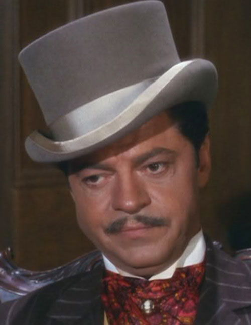 Artemus Gordon (Ross Martin in Wild Wild West) disguised with a top hat and small moustache