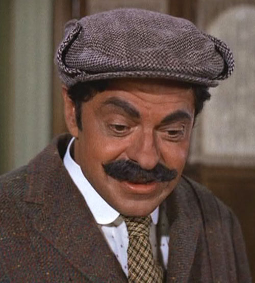 Artemus Gordon (Ross Martin in Wild Wild West) disguised with a flat cap and moustache