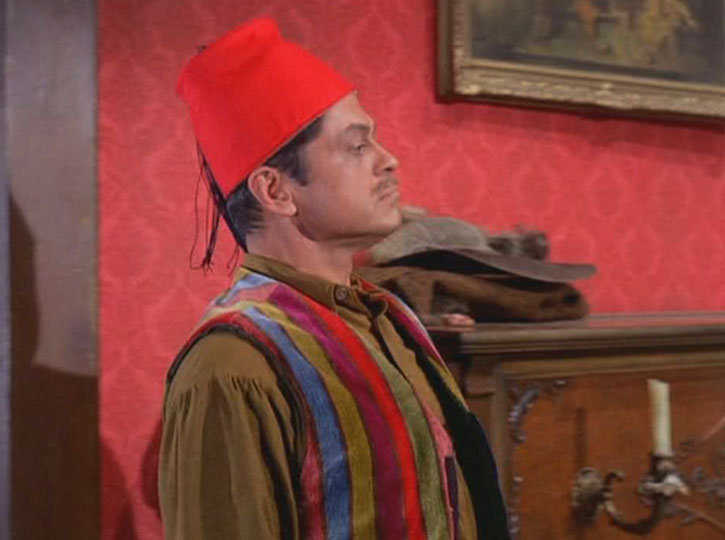 Artemus Gordon (Ross Martin) disguised as a Turk