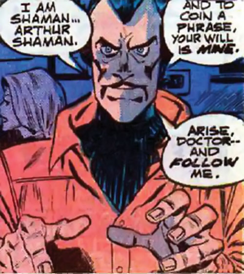 Arthur Shaman (Defenders / Ms. Marvel enemy) (Marvel Comics)