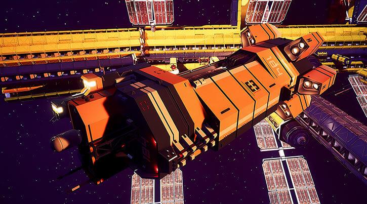 Aryn Vance - STARDROP video game - MCCV ship leaving space station