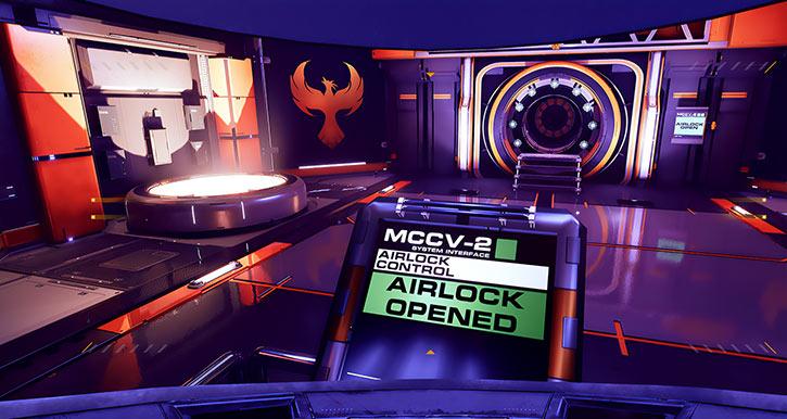 Aryn Vance - STARDROP video game - Airlock opened