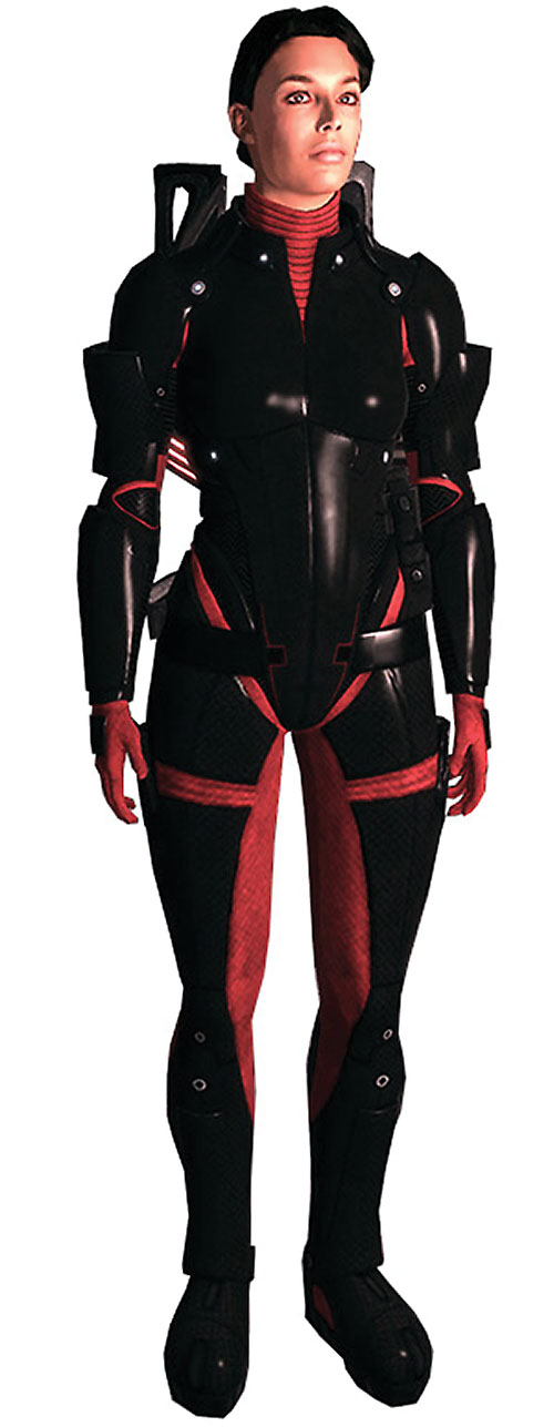 Ashley Williams in Mass Effect 1 - Colossus body armor no helmet